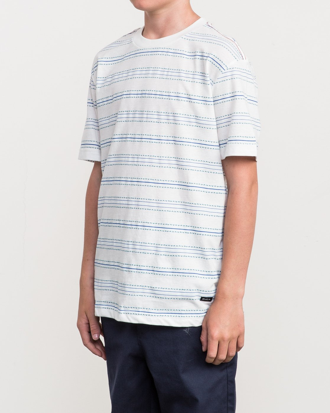2 Boy's Feeder Stripe T-Shirt  B406QRFE RVCA