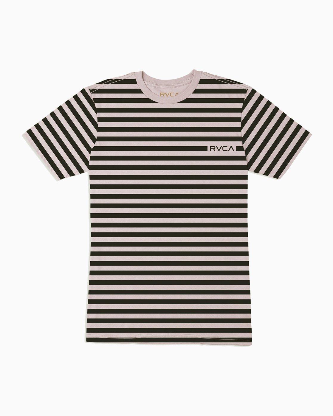 0 Boy's House Stripe T-Shirt Pink B406TRHO RVCA