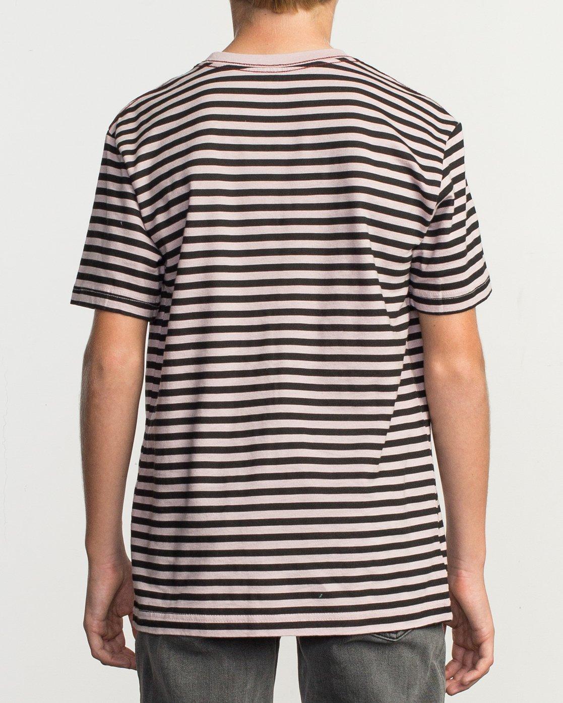 3 Boy's House Stripe T-Shirt Pink B406TRHO RVCA