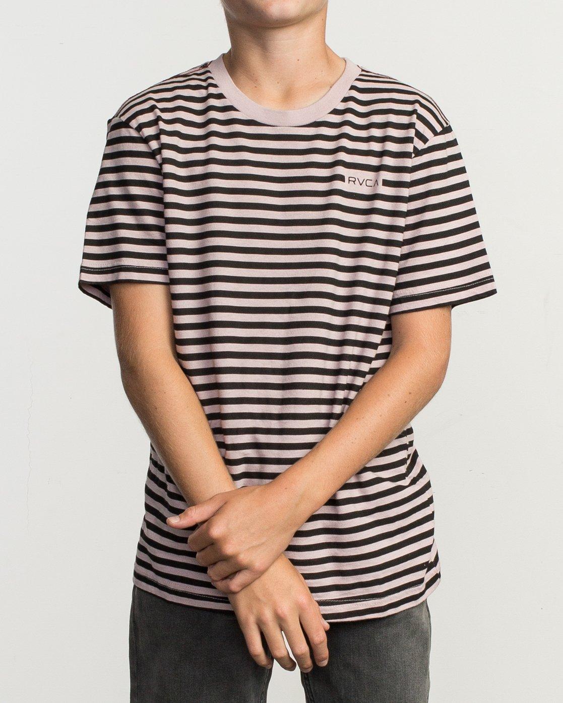 1 Boy's House Stripe T-Shirt Pink B406TRHO RVCA