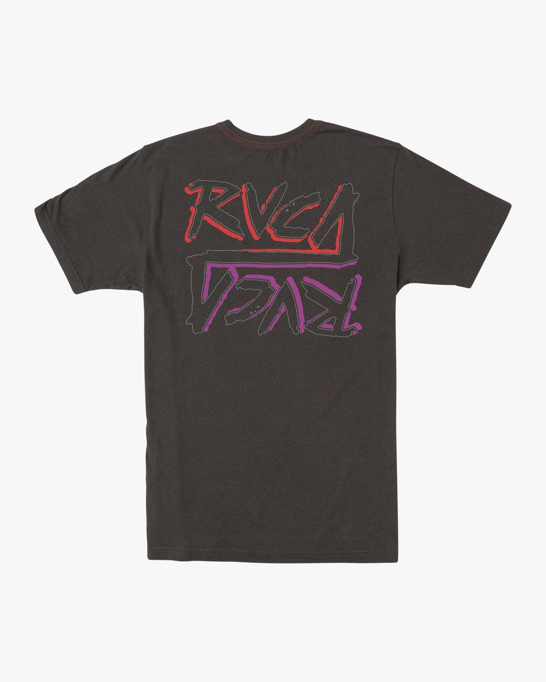 0 Boy's Offset T-Shirt Black B406UROF RVCA