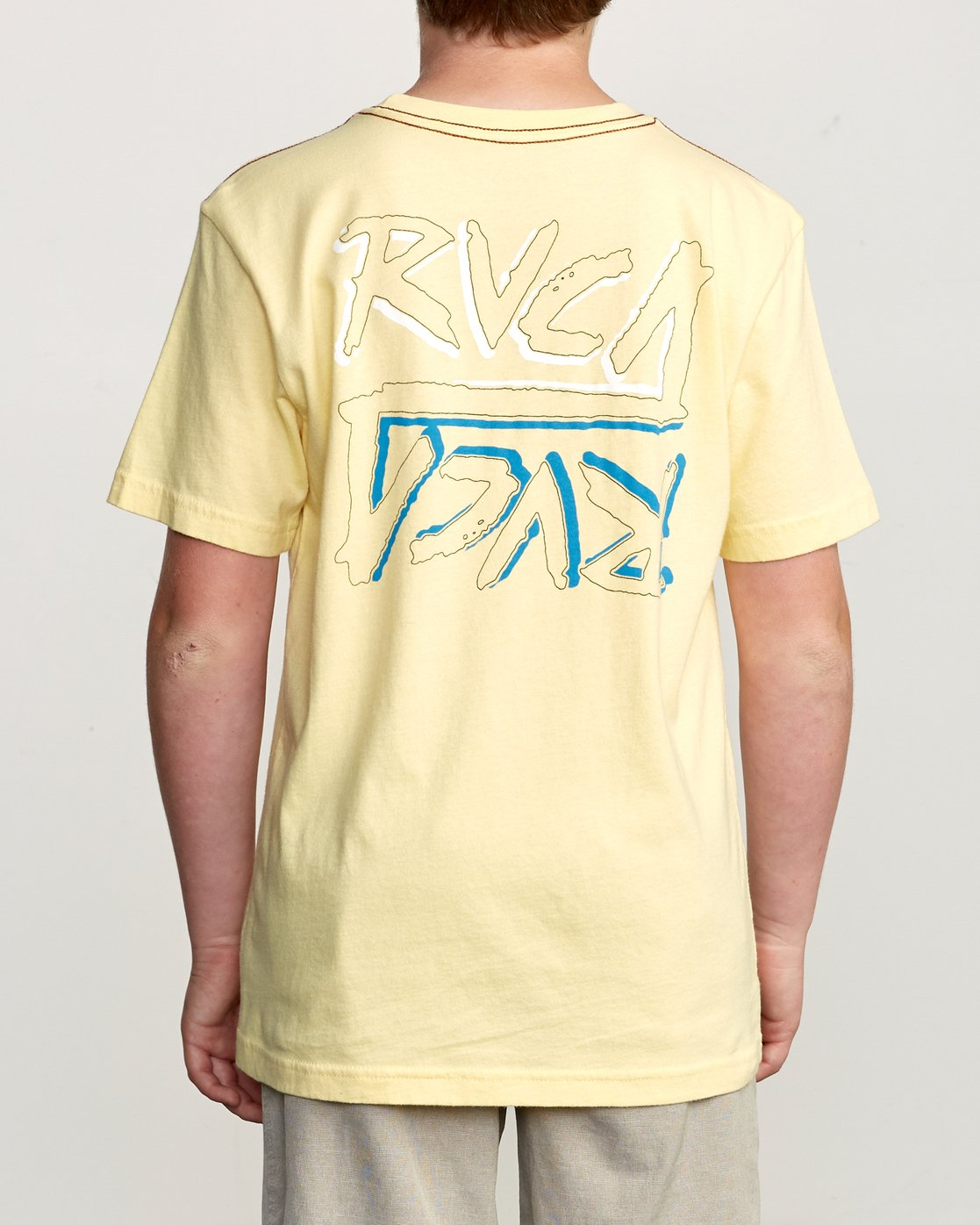 4 Boy's Offset T-Shirt Yellow B406UROF RVCA