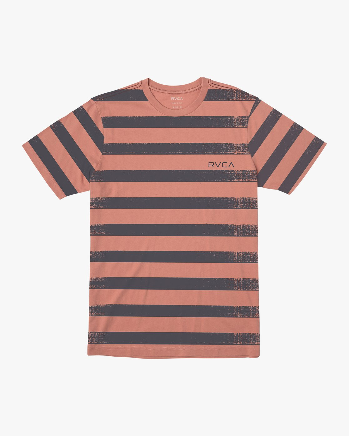 0 Boy's Copy Stripe T-Shirt Pink B406VRCO RVCA