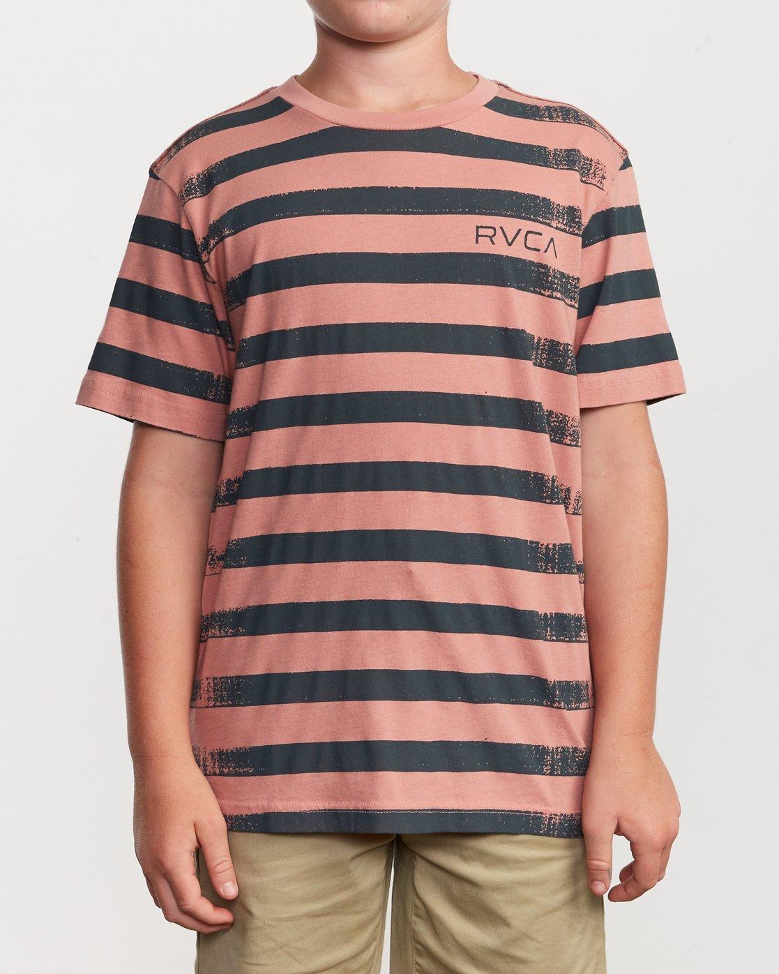 1 Boy's Copy Stripe T-Shirt Pink B406VRCO RVCA