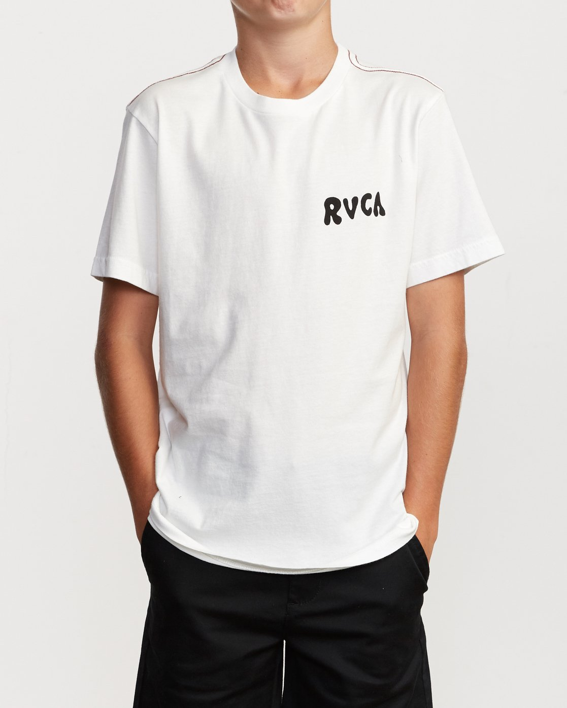 2 Boy's Grisancich Jungle T-Shirt White B406VRJU RVCA