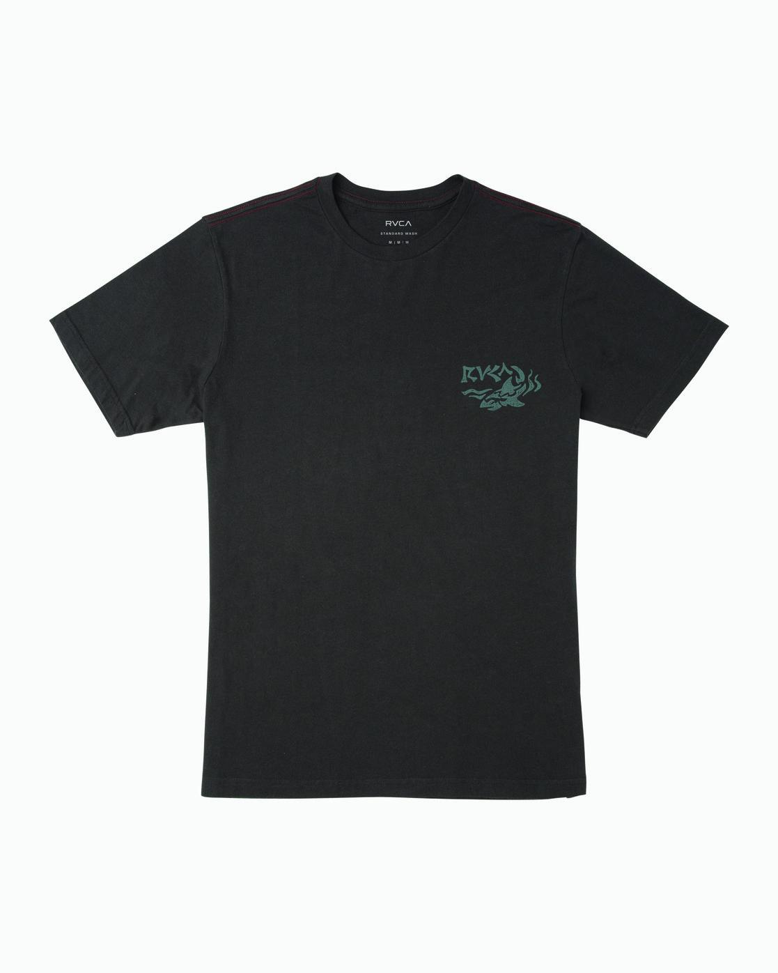 1 Boy's Castaway T-Shirt Black B406WRCA RVCA