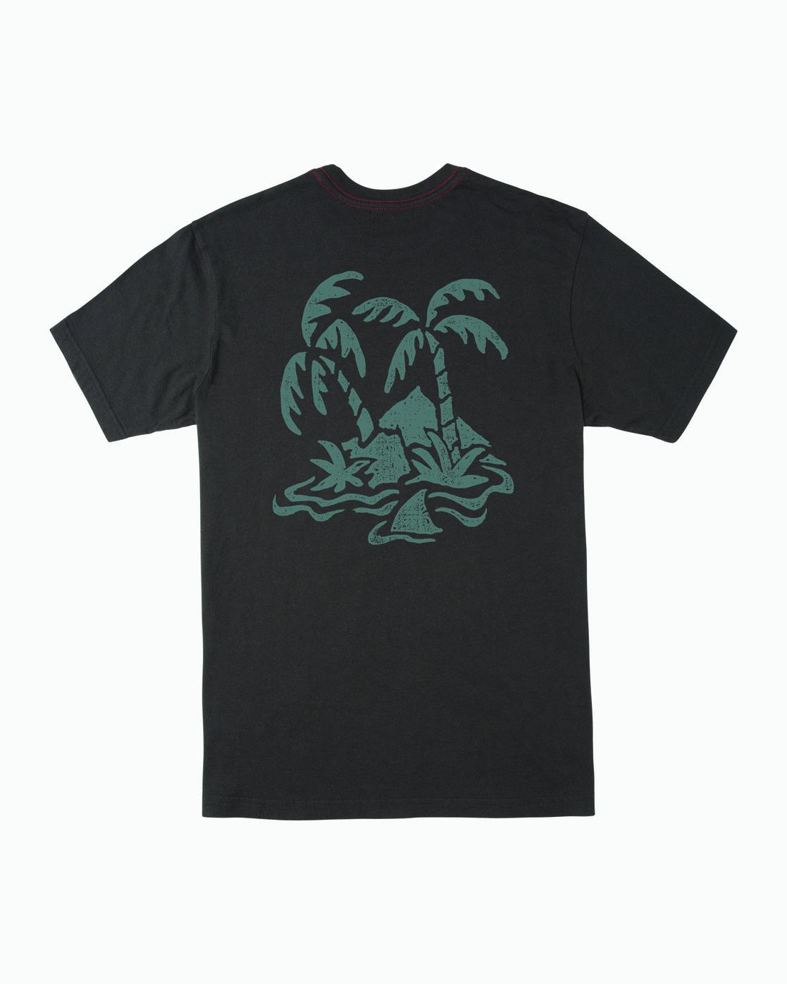 0 Boy's Castaway T-Shirt Black B406WRCA RVCA