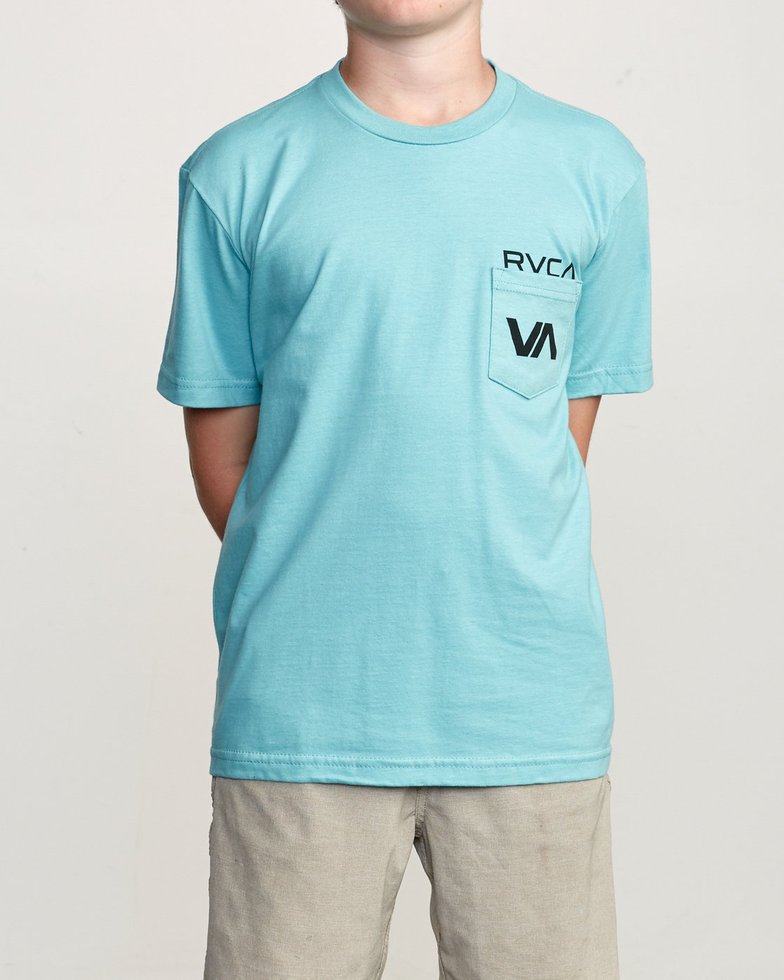 1 Boy's Over Under Pocket T-Shirt Blue B407UROV RVCA