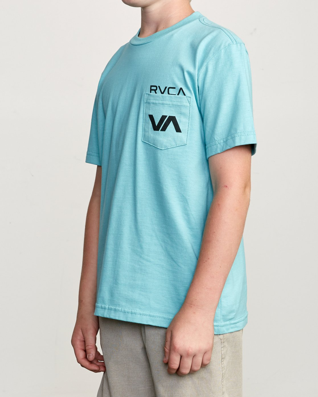2 Boy's Over Under Pocket T-Shirt Blue B407UROV RVCA