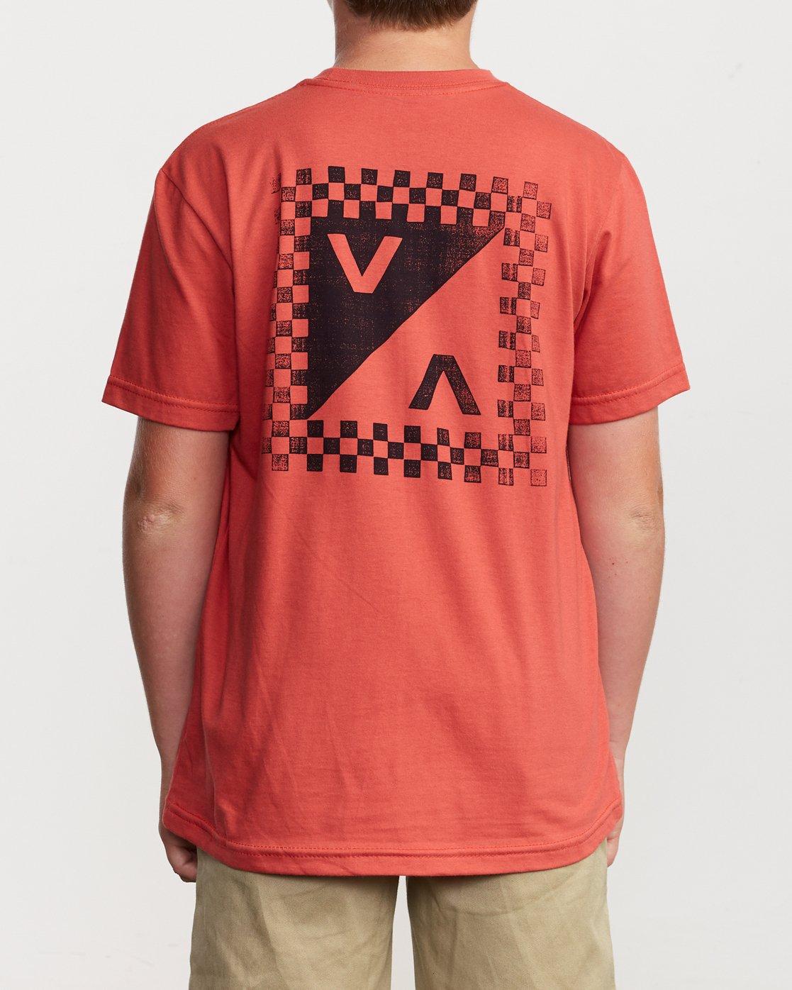 4 Boy's Check Mate T-Shirt  B407VRCH RVCA