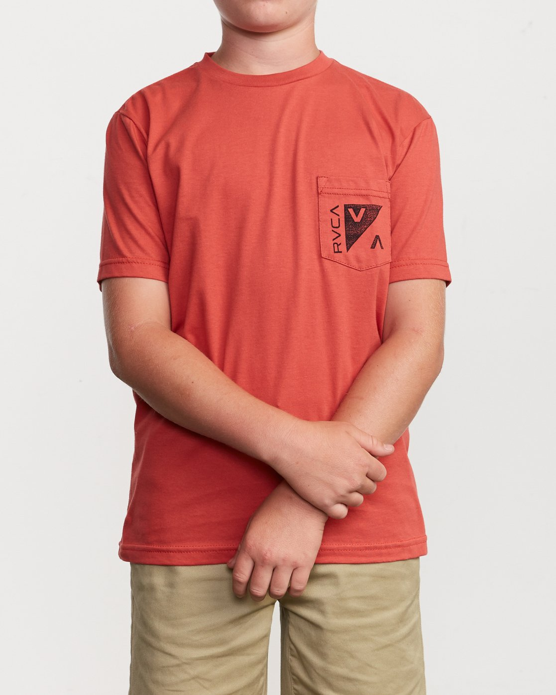 2 Boy's Check Mate T-Shirt Grey B407VRCH RVCA