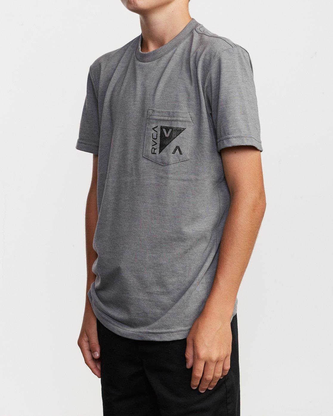 3 Boy's Check Mate T-Shirt Green B407VRCH RVCA
