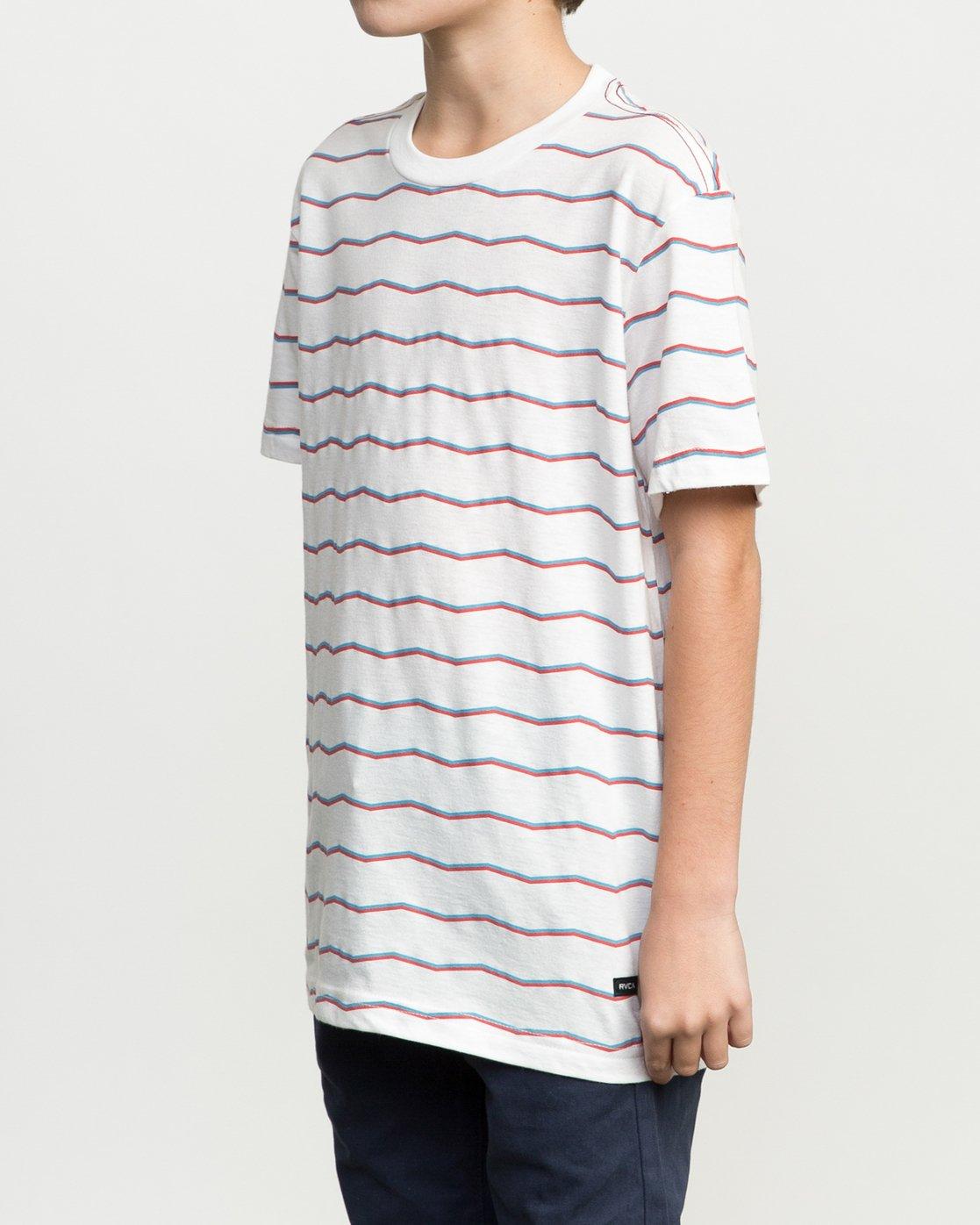 2 Boy's VA Stripe T-Shirt  B409PRVA RVCA