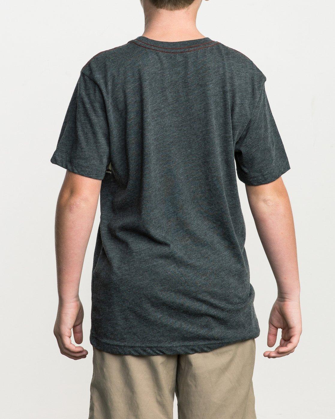 3 Boy's Motors Stripe T-Shirt  B409SRMO RVCA