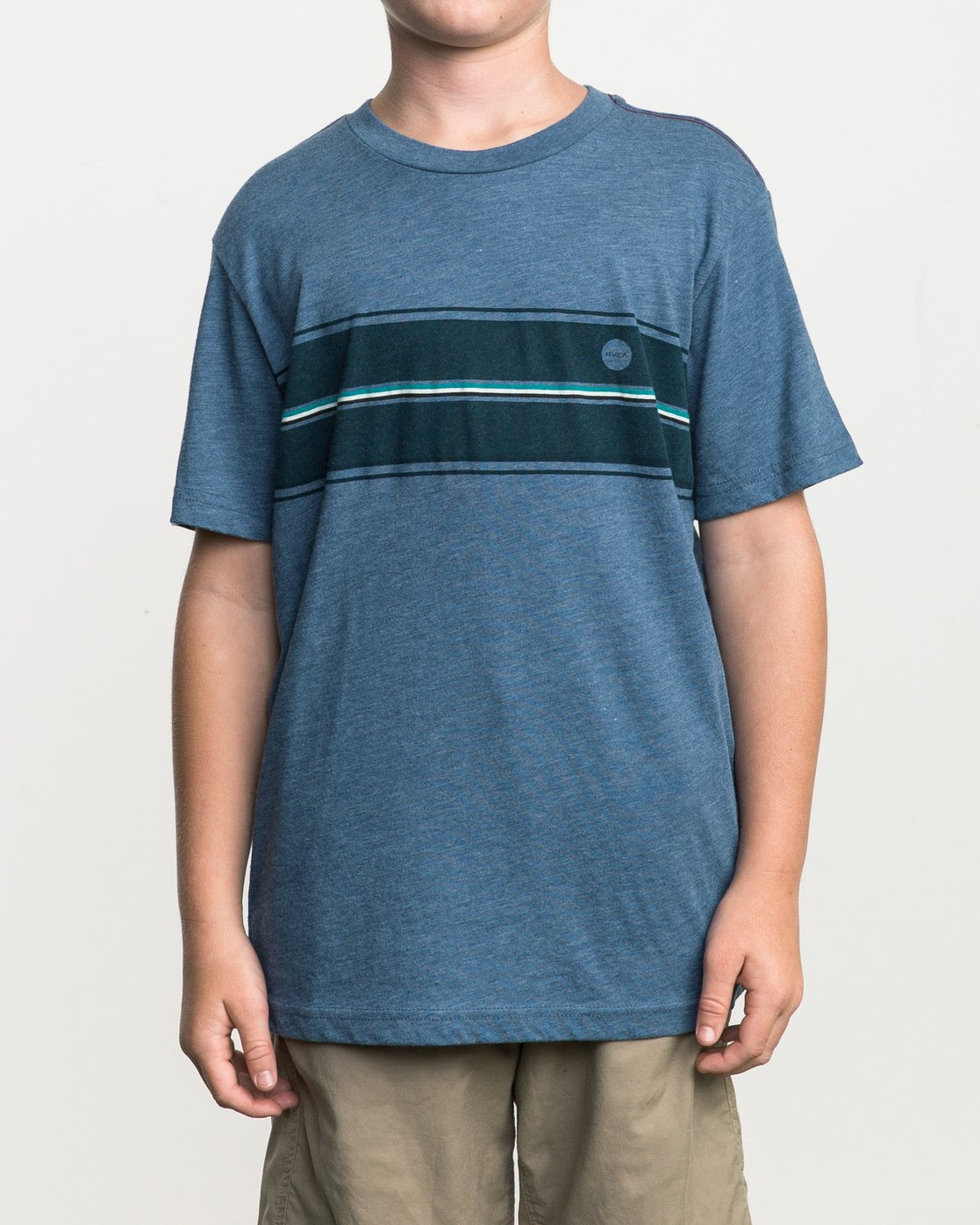 1 Boy's Motors Stripe T-Shirt Blue B409SRMO RVCA