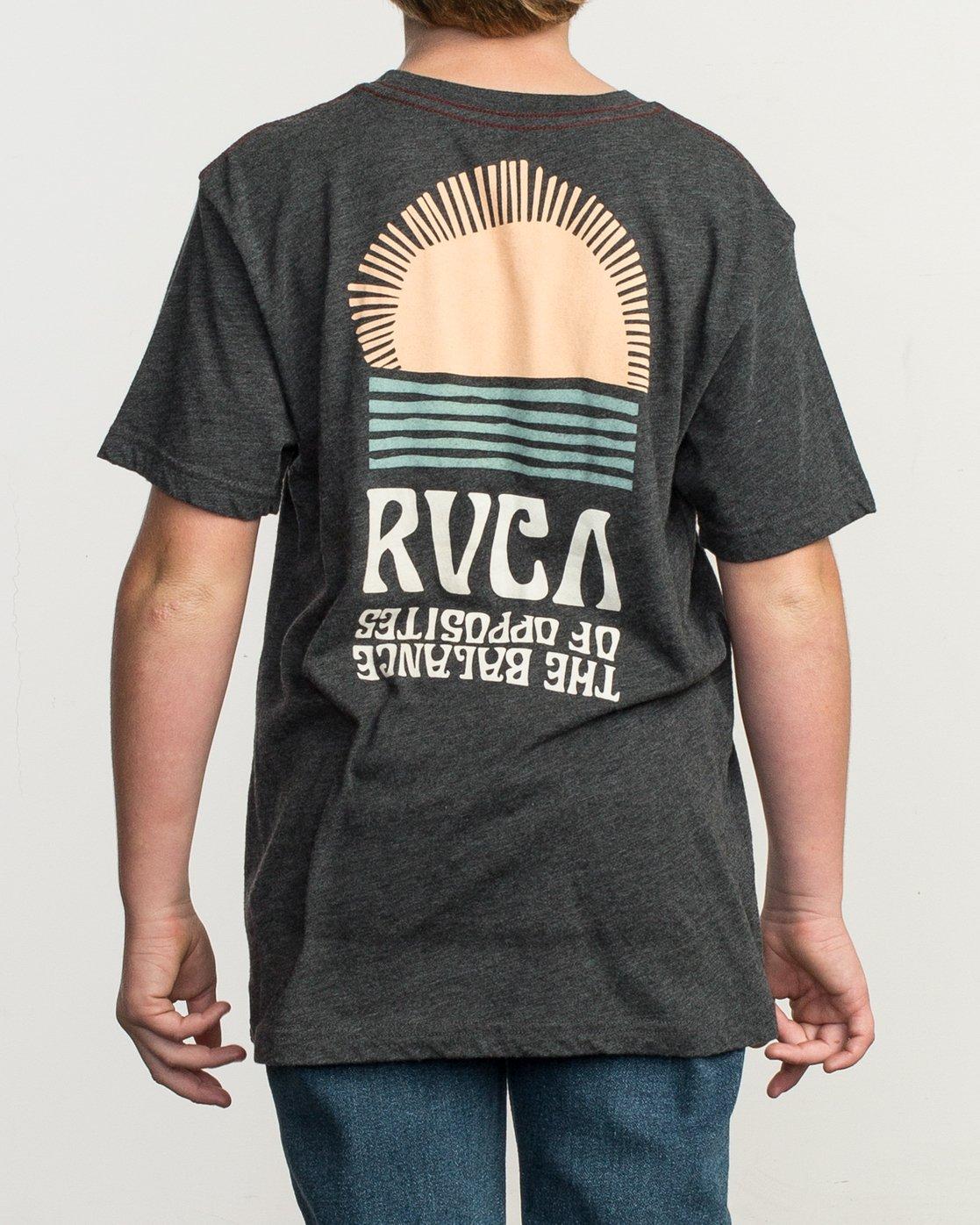 4 Boy's Daybreak T-Shirt Black B409TRDA RVCA