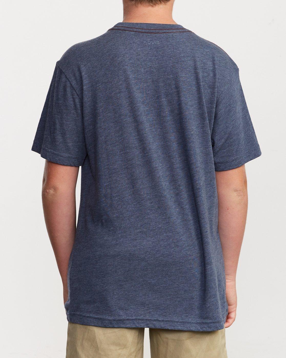 3 Boy's Big Glitch T-Shirt Blue B409VRBG RVCA