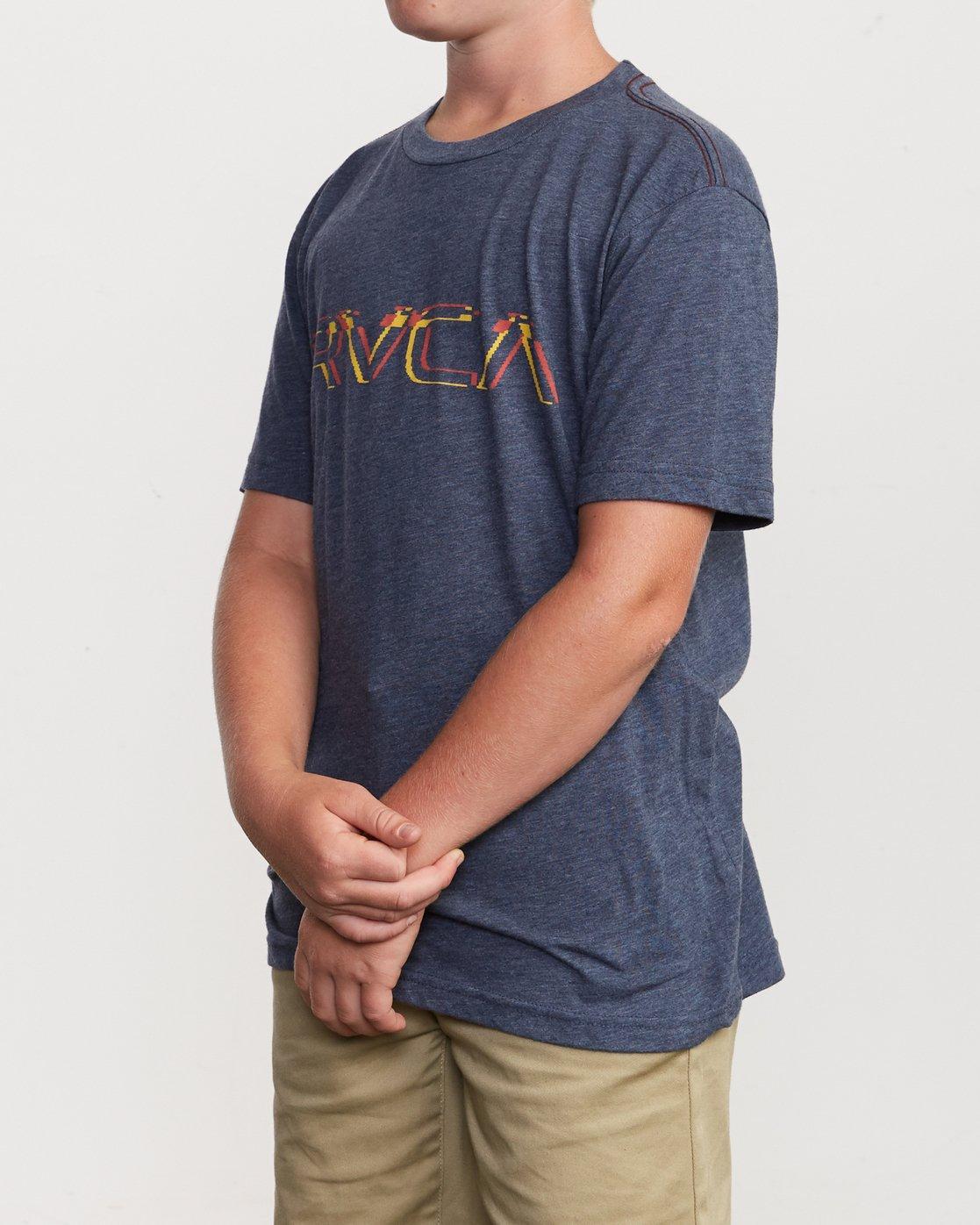 2 Boy's Big Glitch T-Shirt Blue B409VRBG RVCA