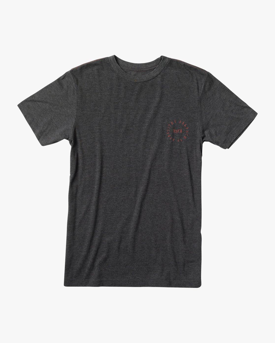 1 Boy's Hortonsphere T-Shirt Black B409VRHO RVCA