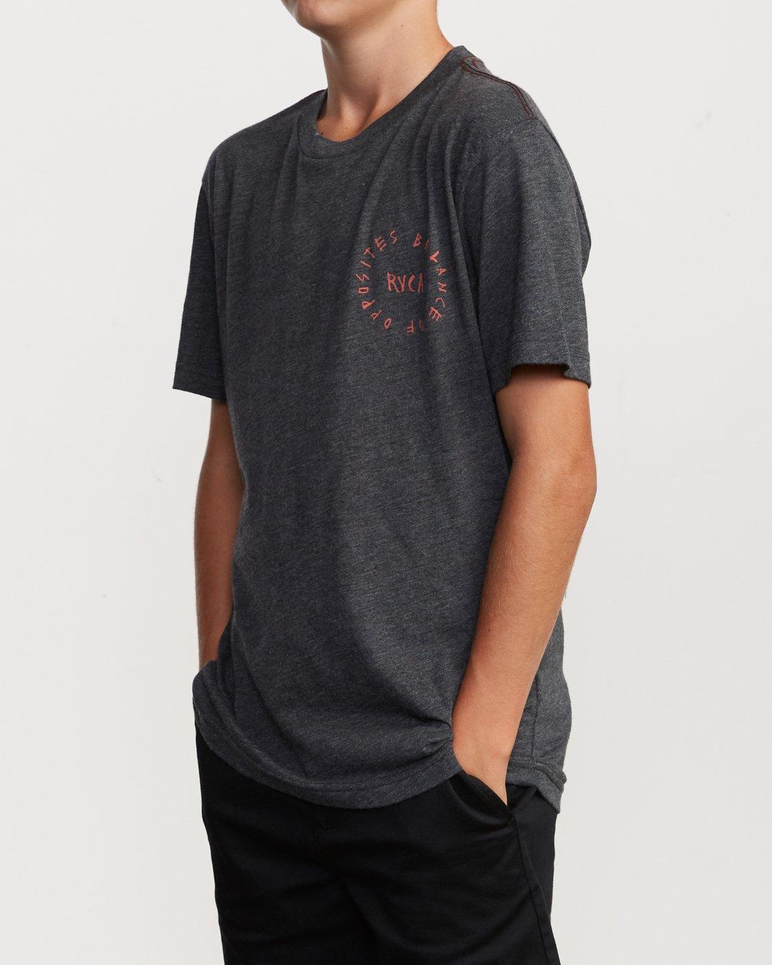 3 Boy's Hortonsphere T-Shirt Black B409VRHO RVCA