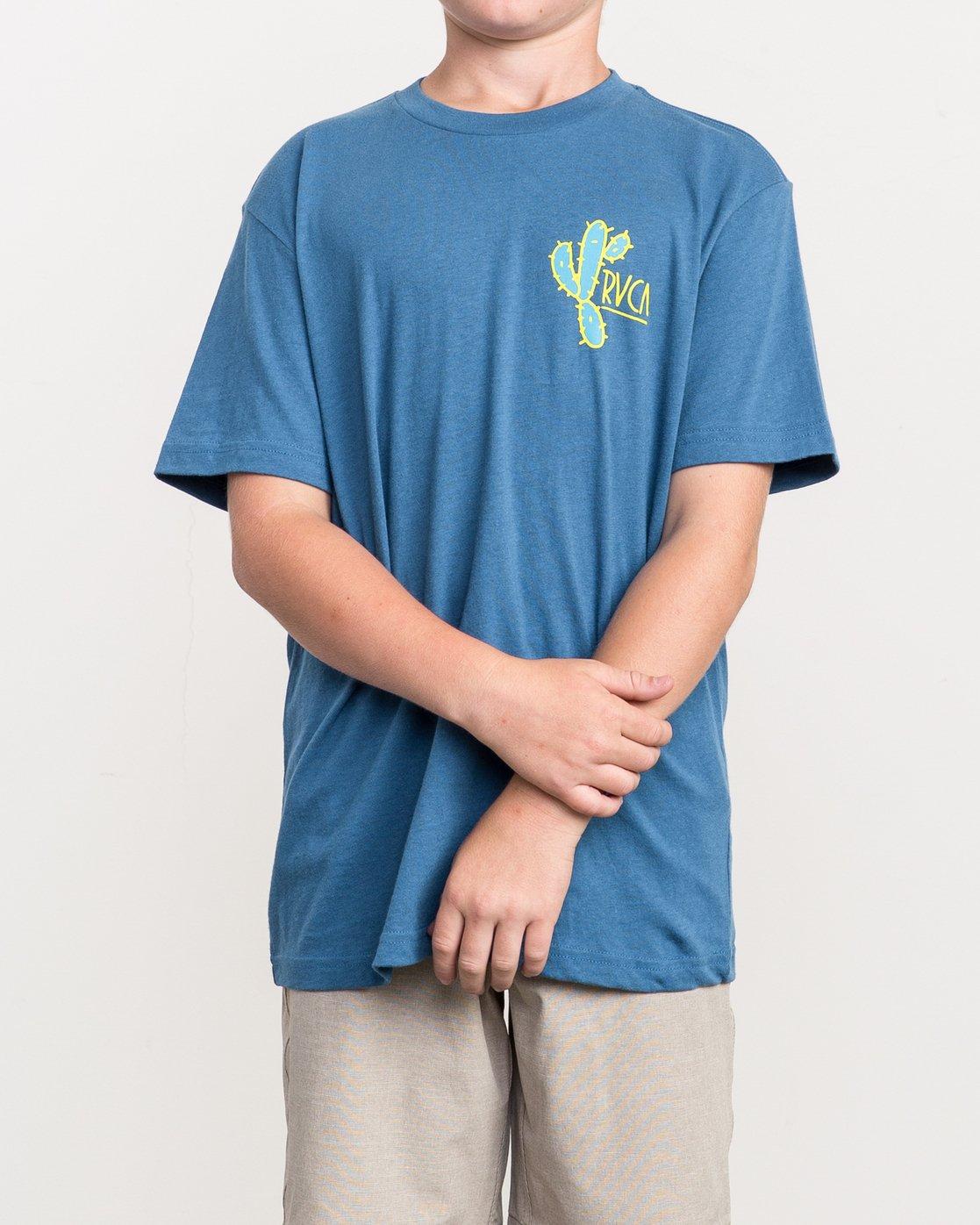 2 Boy's Spiked T-Shirt Blue B410QRSP RVCA