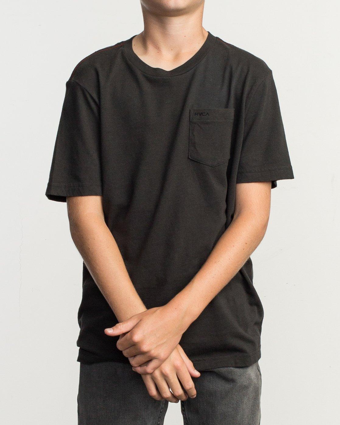 1 Boy's PTC Standard Wash T-Shirt Black B412TRPT RVCA