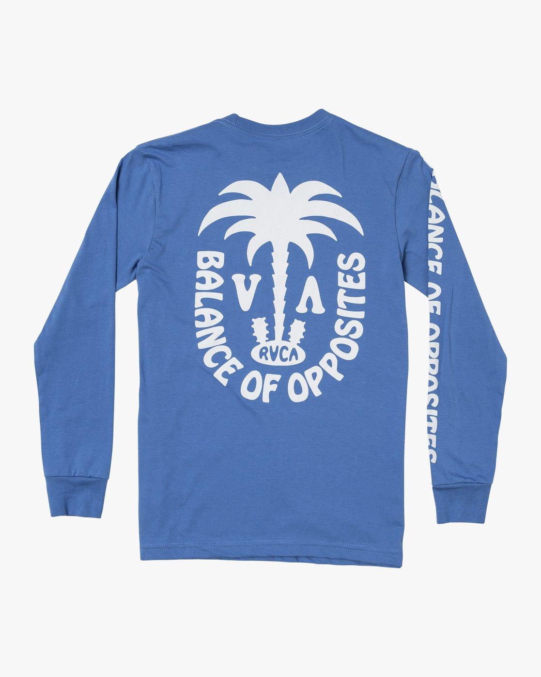 1 BOYS OASIS LONG SLEEVE T-SHIRT Blue B4512ROA RVCA
