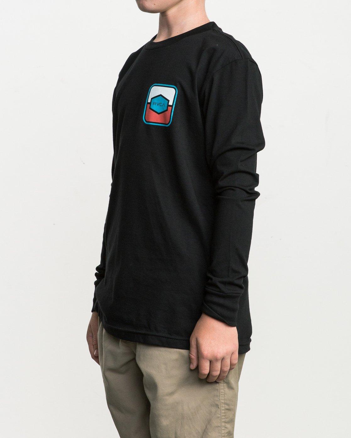 2 Boy's Milton Long Sleeve T-Shirt  B451SRMI RVCA