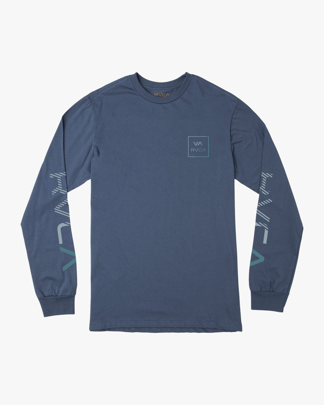 0 Boy's Segment Long Sleeve T-Shirt Blue B451TRSE RVCA