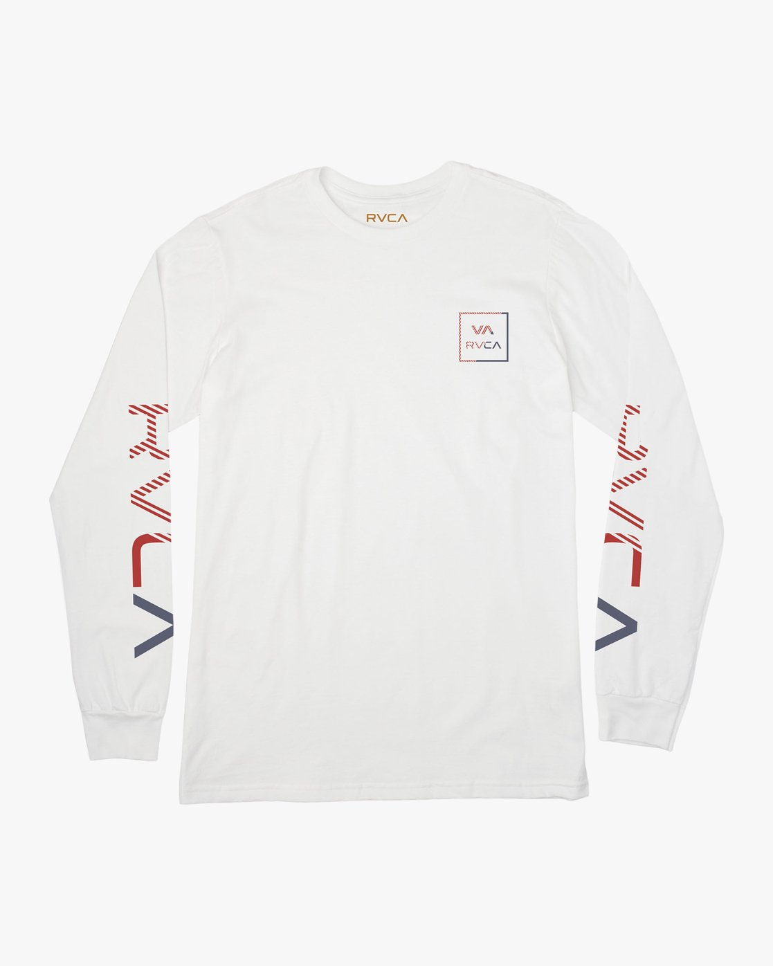 0 Boy's Segment Long Sleeve T-Shirt White B451TRSE RVCA