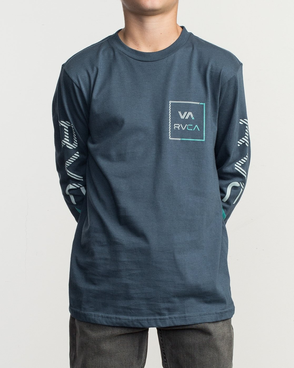 1 Boy's Segment Long Sleeve T-Shirt Blue B451TRSE RVCA