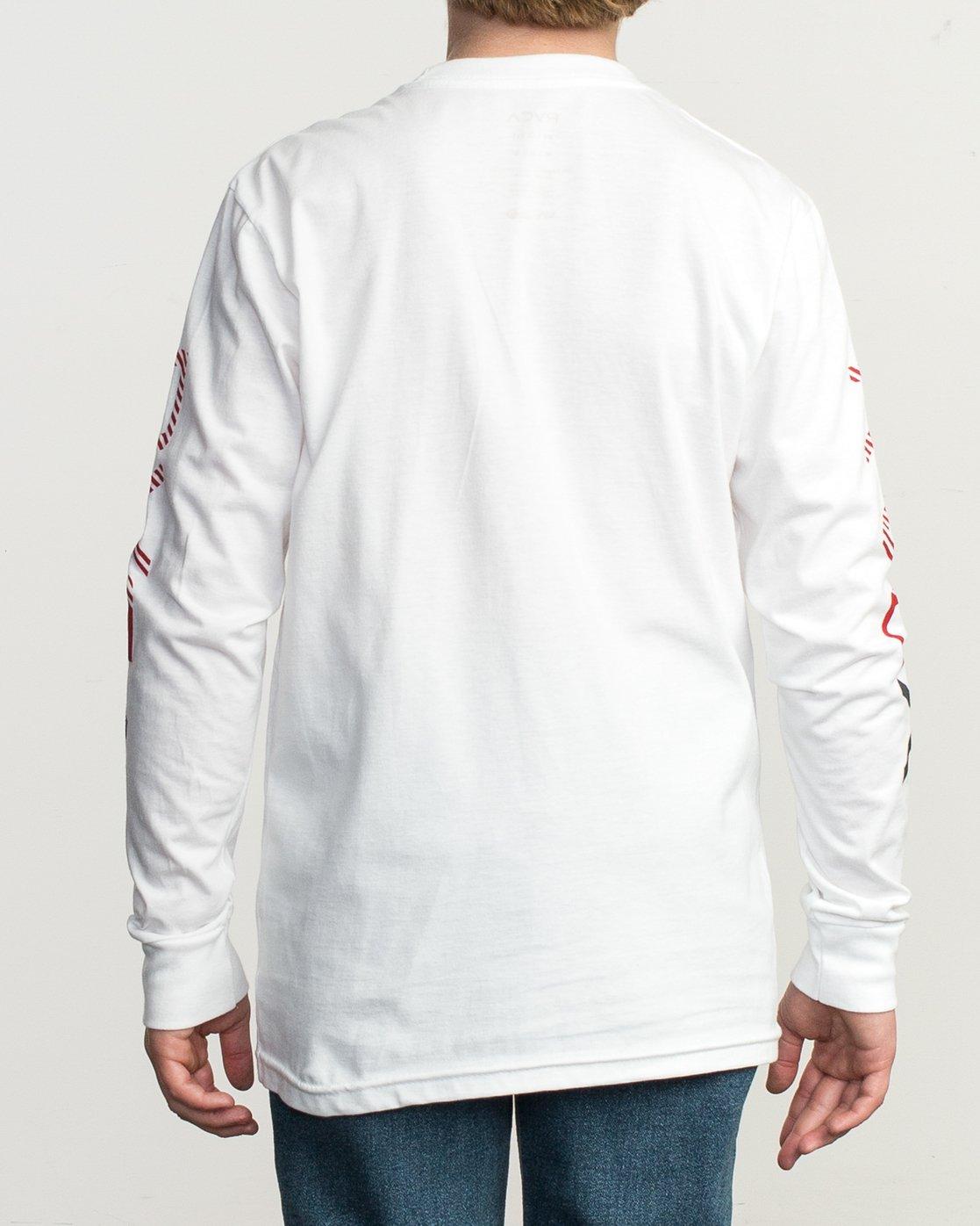3 Boy's Segment Long Sleeve T-Shirt White B451TRSE RVCA