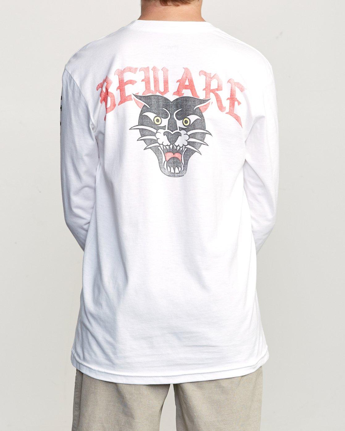 5 Boy's Suzuki Beware Long Sleeve T-Shirt White B451URBE RVCA