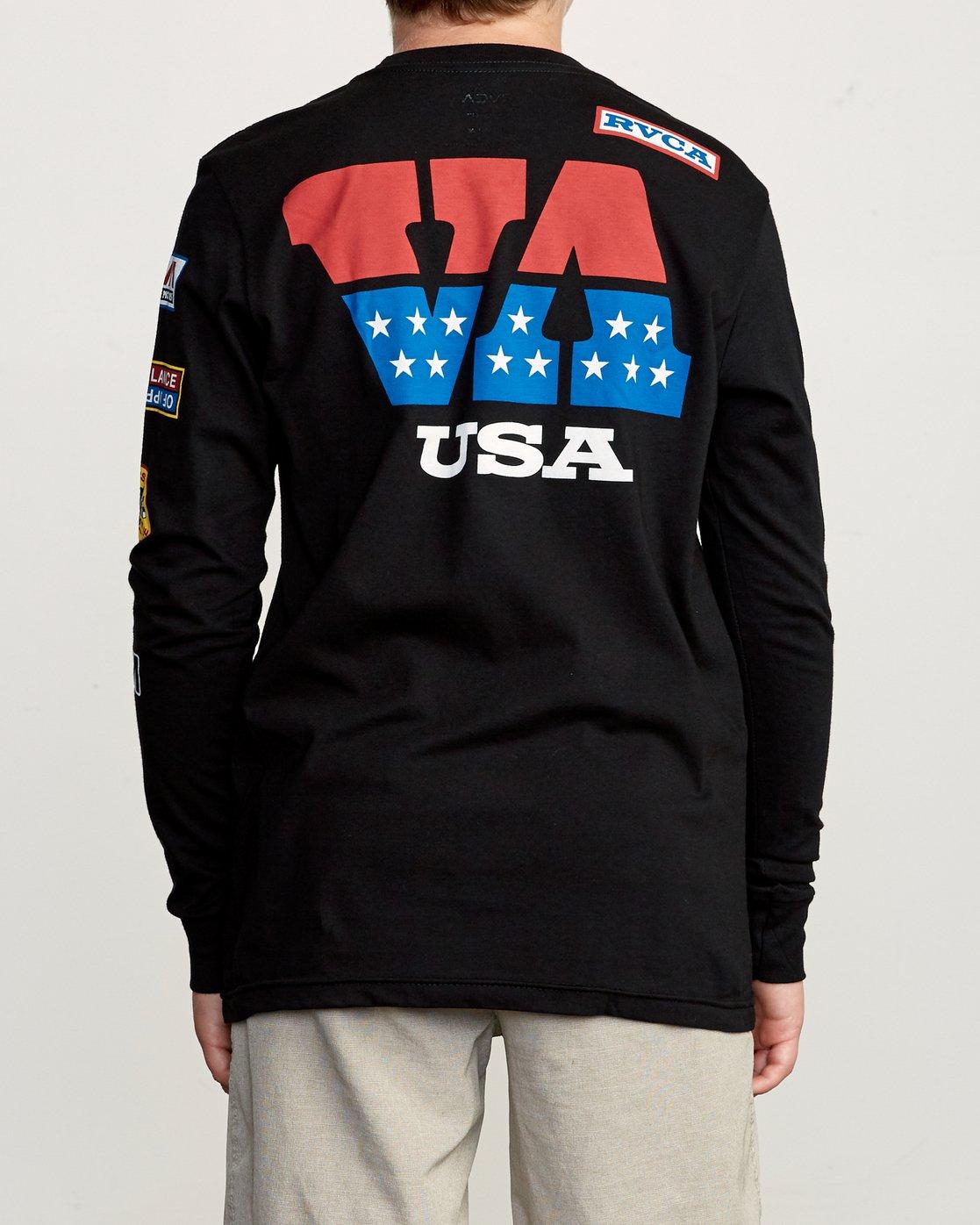 4 Boy's Indianapolis T-Shirt Black B451URIN RVCA