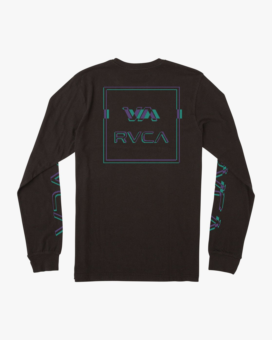 0 Boys Big Glitch Long Sleeve T-Shirt Black B451VRBG RVCA