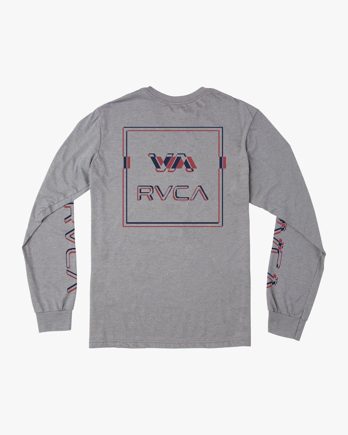 0 Boy's Big Glitch Long Sleeve T-Shirt Grey B451VRBG RVCA