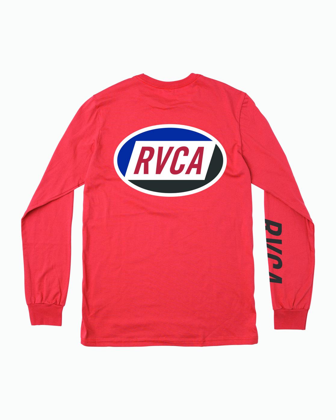 0 Boy's Cortex Long Sleeve T-Shirt Grey B451WRCT RVCA