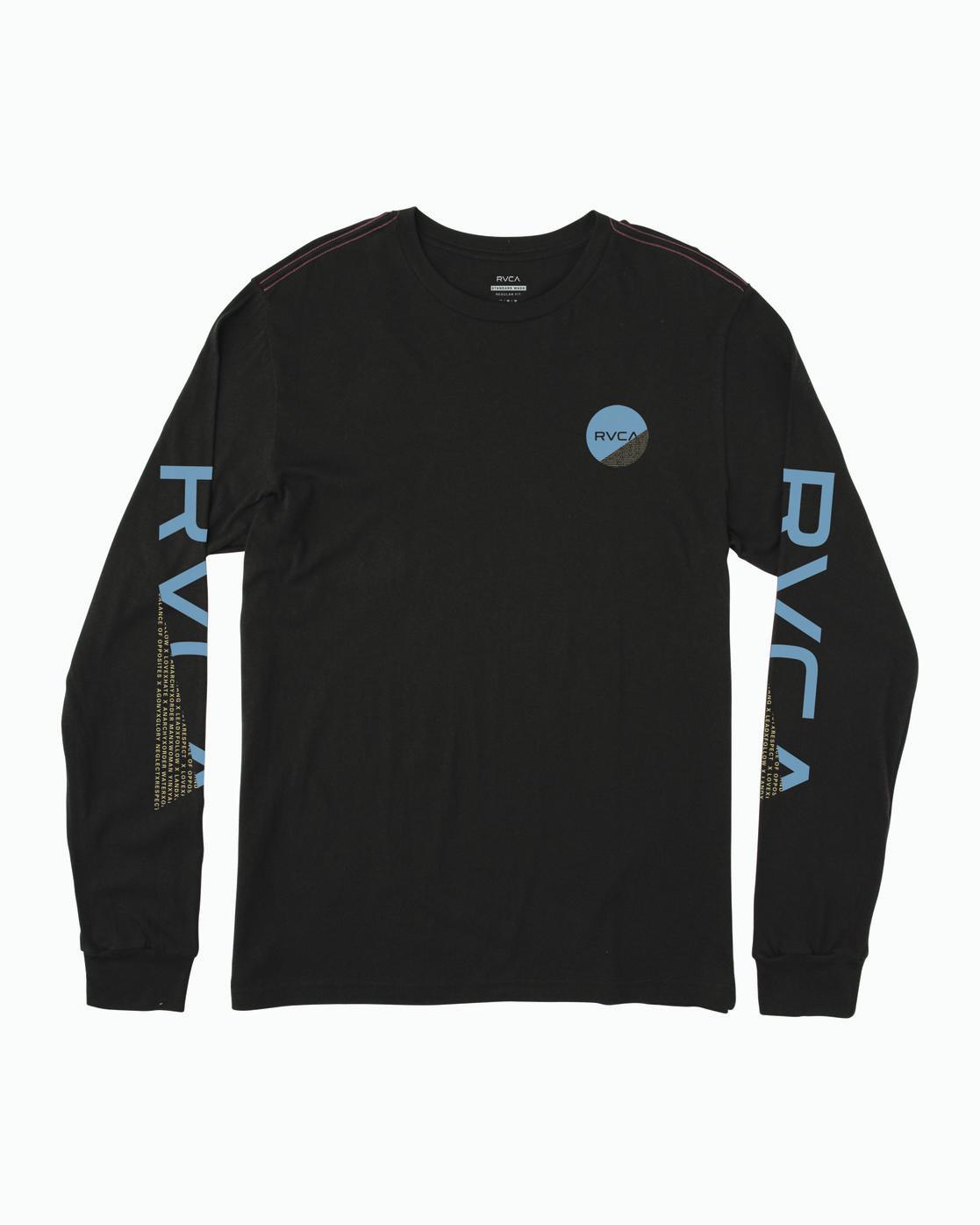 0 FRACTION LONG SLEEVE T-SHIRT Black B4543RFR RVCA