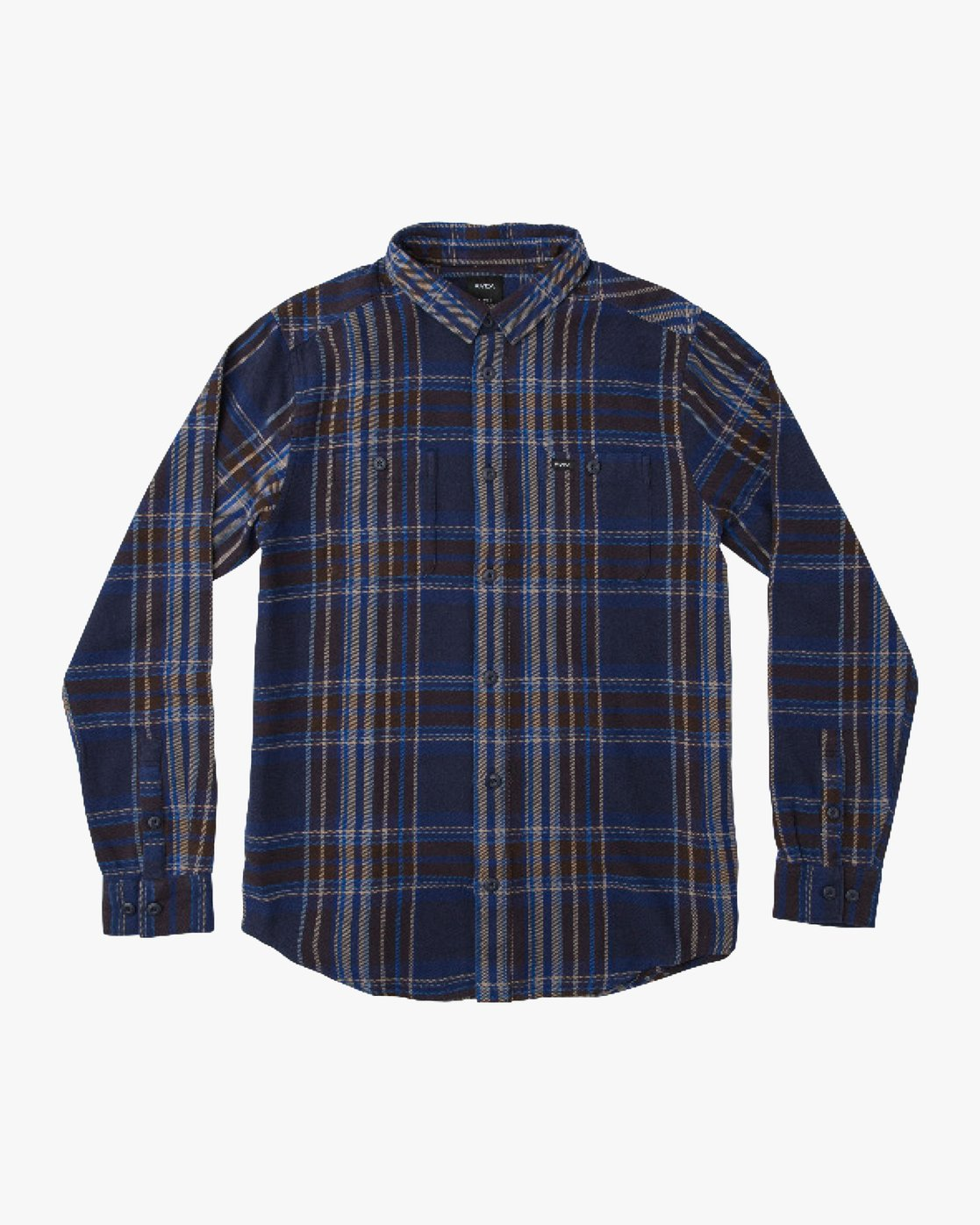 0 Boy's Ludlow Plaid Flannel Blue B502QRLU RVCA