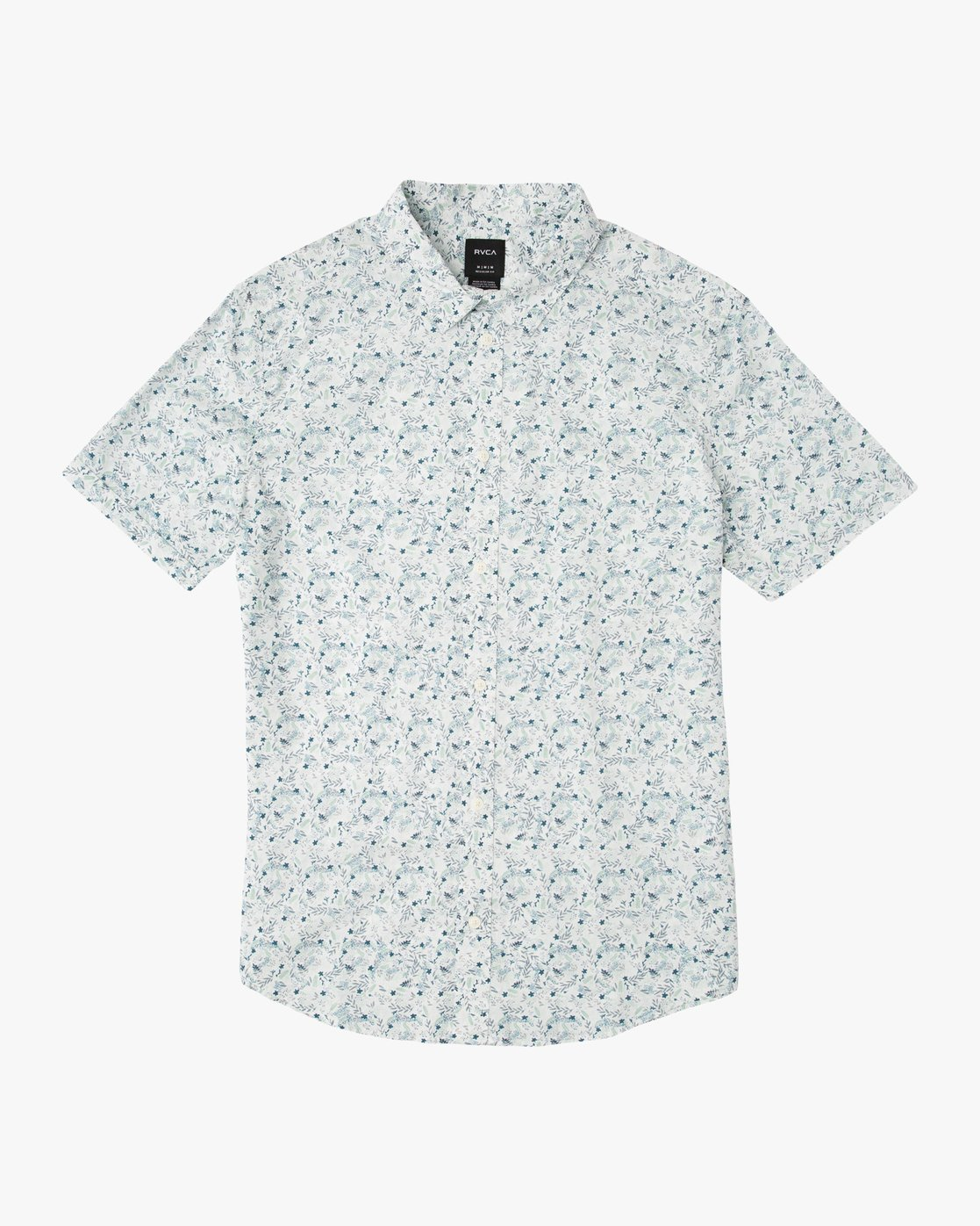 0 Boy's Makato Button-Up Shirt White B502SRMA RVCA