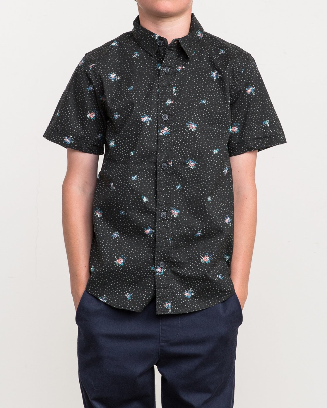 1 Boy's Scattered Printed Shirt  B506QRSC RVCA
