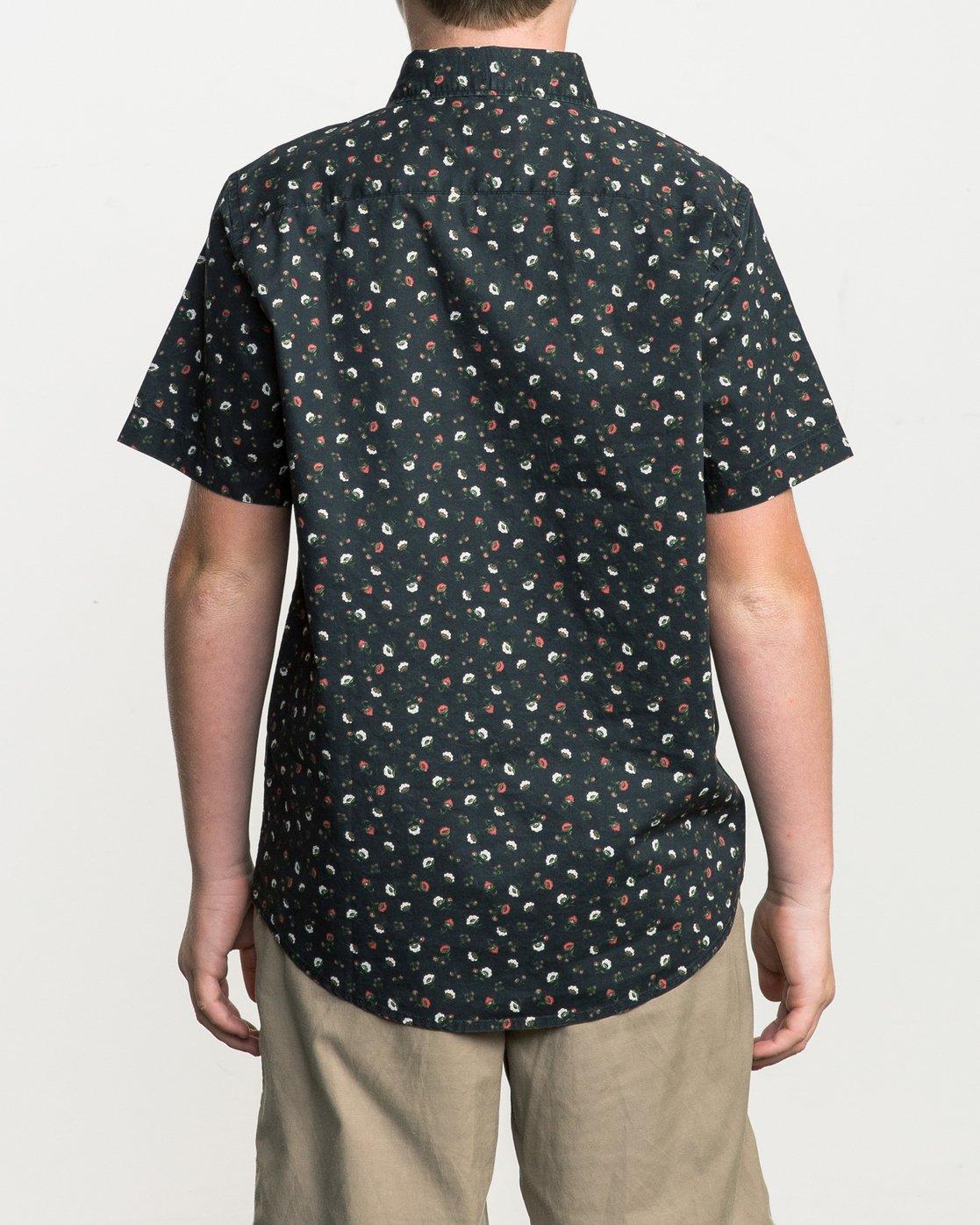 3 Boy's Folk Button-Up Shirt Black B506SRFO RVCA
