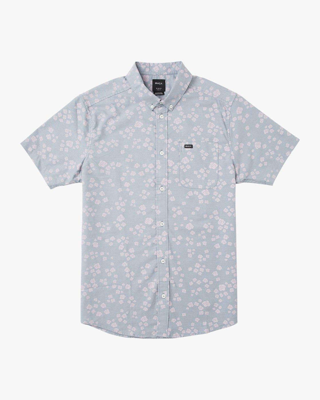 0 Boy's That'll Do Print Shirt Blue B508TRTP RVCA
