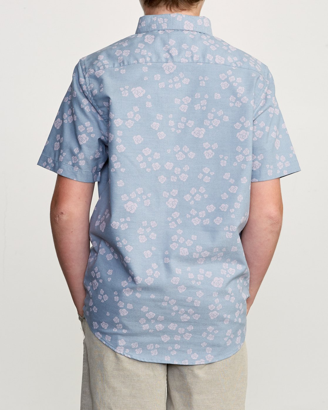 3 Boy's That'll Do Print Shirt Blue B508TRTP RVCA