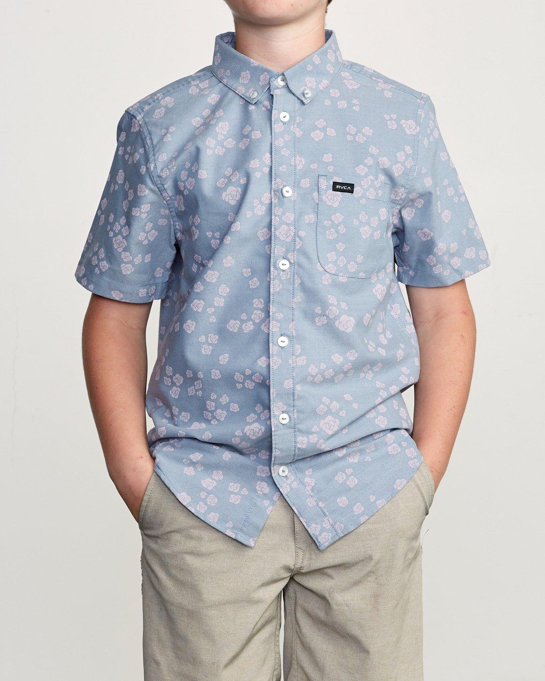 1 Boy's That'll Do Print Shirt Blue B508TRTP RVCA