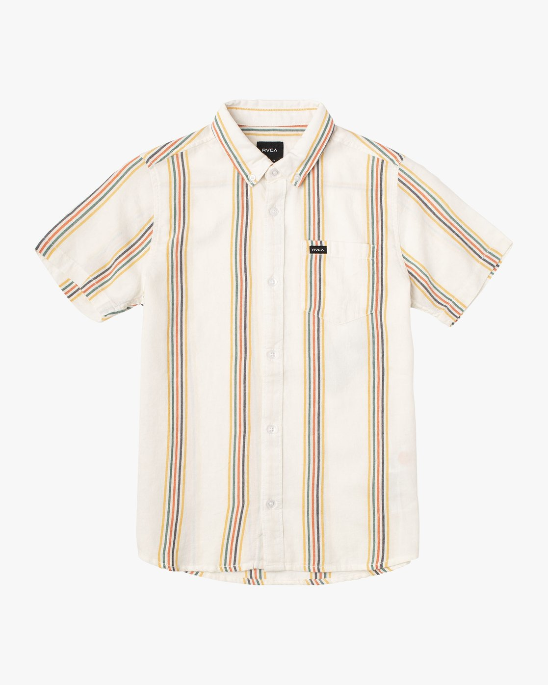 0 Boy's Split Stripe Shirt White B509VRSS RVCA