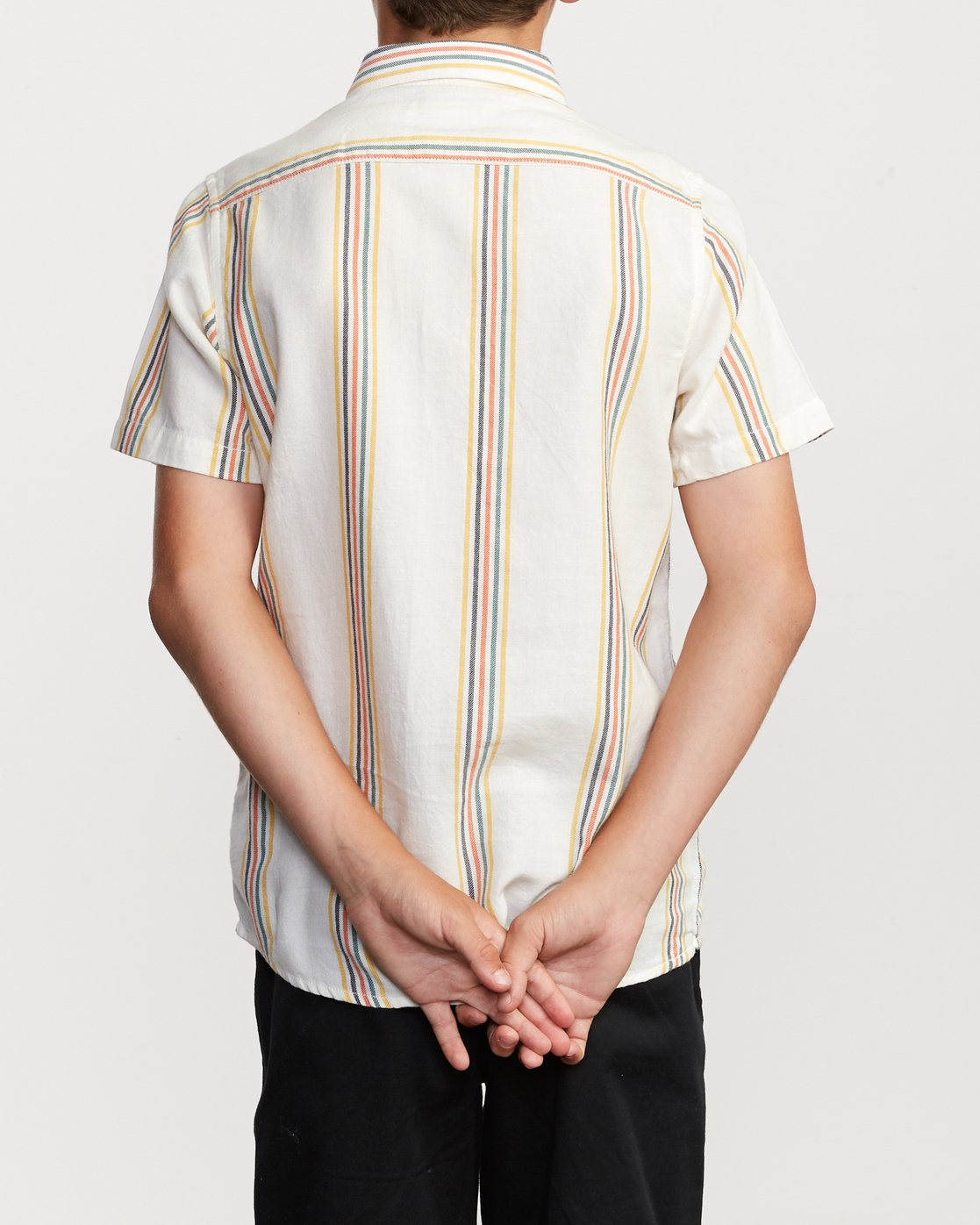 3 Boy's Split Stripe Shirt White B509VRSS RVCA