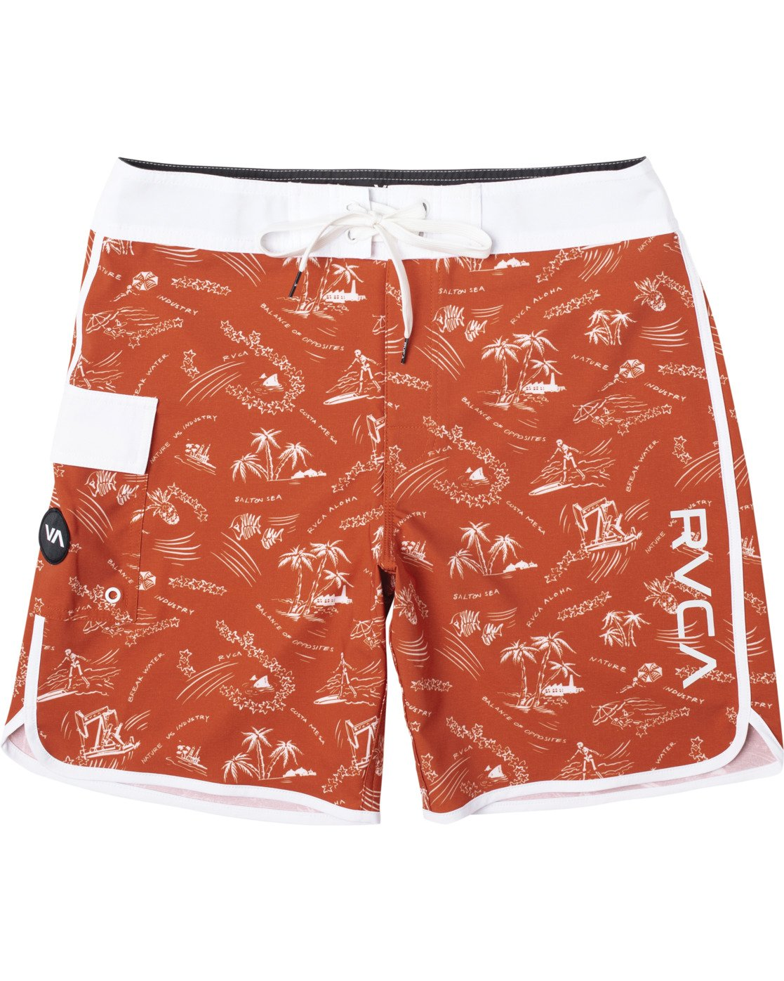 "0 BOYS EASTERN BOARDSHORT 17"" Red B5104EAS RVCA"