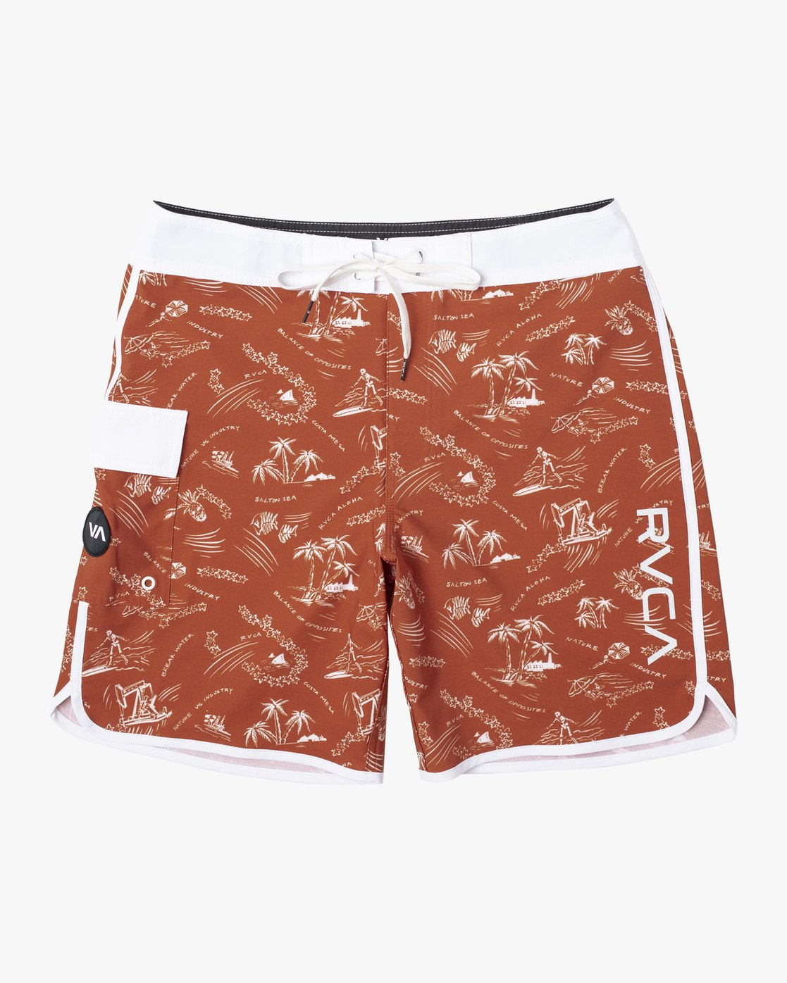 "1 BOYS EASTERN BOARDSHORT 17"" Red B5104EAS RVCA"
