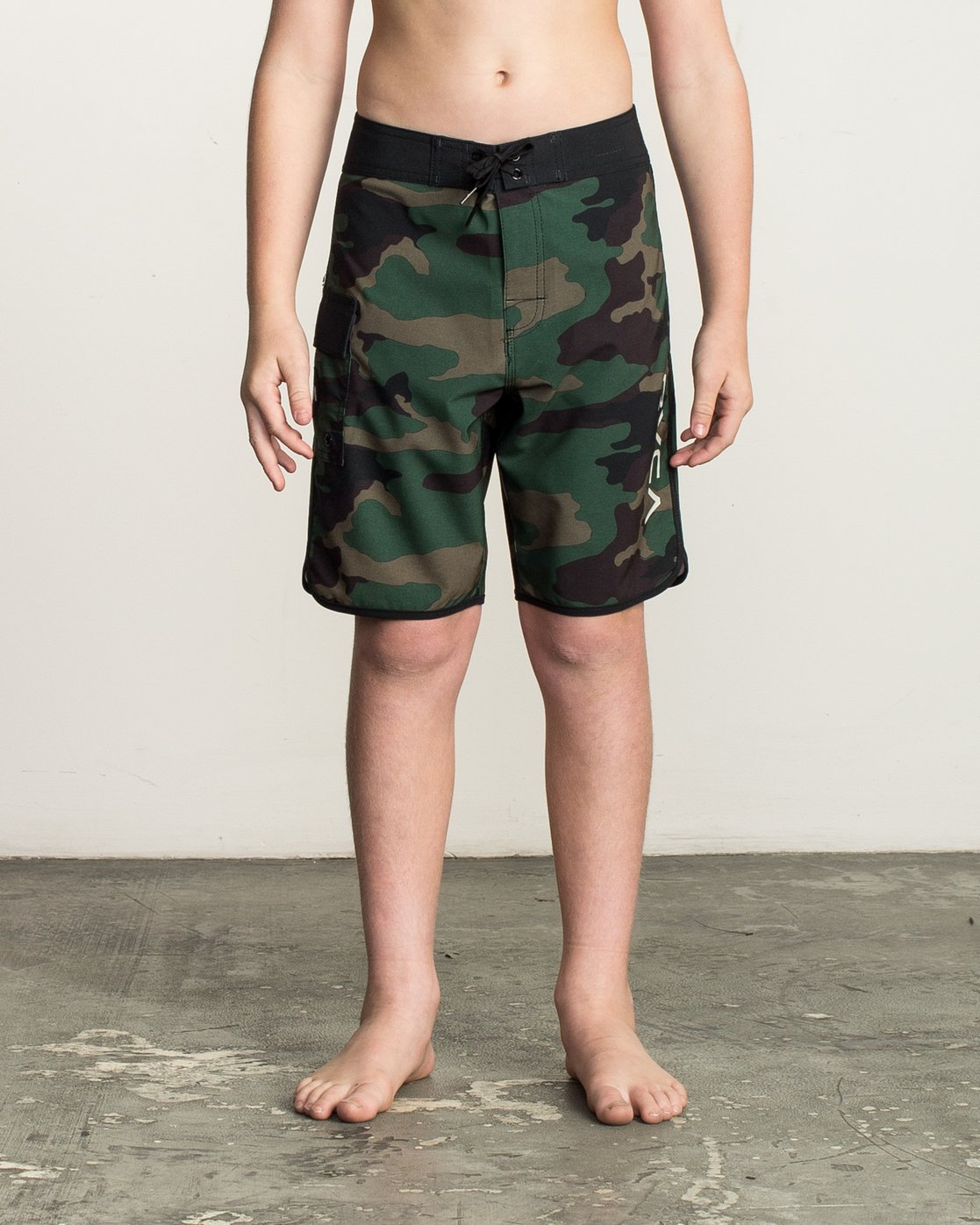 1 Boy's Eastern Boardshorts Brown B5104EAS RVCA